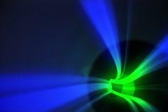 Blaue und grüne Turbulenz mit Licht Lizenzfreie Stockfotografie