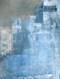 Blaue und graue Kunst-Malerei Lizenzfreies Stockbild