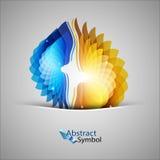 Blaue und orange Formen Lizenzfreies Stockfoto