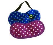 Blaue und rosa Augenmasken Lizenzfreie Stockfotografie
