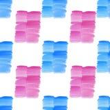 Blaue und rosa Stellen des abstrakten schönen hellen transparenten schönen strukturierten Sommers befleckt Musteraquarell-Handill vektor abbildung