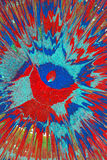 Blaue und rote Sprühfarbe Lizenzfreie Stockfotografie
