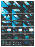 Blaue und schwarze Elemente des Vektors für infographics lizenzfreie abbildung