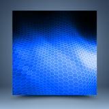 Blaue und schwarze Mosaikschablone Lizenzfreies Stockfoto