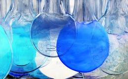 Blaue und transparente Kreise Stockbild