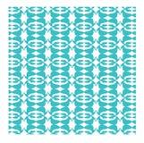 Blaue und weiße abstrakte Auslegung Lizenzfreies Stockbild