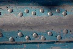 Blaue und weiße Beschaffenheit des Metalls Lizenzfreie Stockbilder