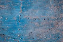 Blaue und weiße Beschaffenheit des Metalls Stockfotografie