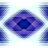 Blaue und weiße Dreiecke und nahtloses Muster der abstrakten Geometrie der Raute Stockfoto