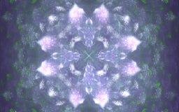 Blaue und weiße eisige abstrakte künstlerische Schneeflocke Winterhintergrund für Weihnachtsdesigne Schöne verzierte Abdeckung Ih lizenzfreie abbildung