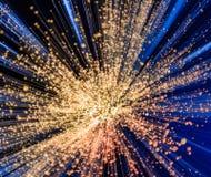 Blaue und weiße Explosion Lizenzfreies Stockfoto
