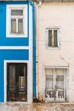 Blaue und weiße Heimatfront Lizenzfreies Stockfoto