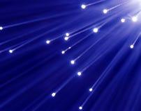 Blaue und weiße Leuchte Stockfotografie