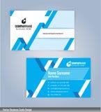 Blaue und weiße moderne kreative und saubere Visitenkarte Designschablone Lizenzfreies Stockbild