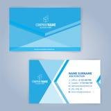 Blaue und weiße moderne Visitenkarteschablone Stockbilder