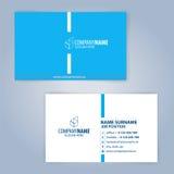 Blaue und weiße moderne Visitenkarteschablone Stockfoto