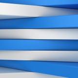Blaue und weiße Panels Stockbild
