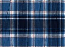 Blaue und weiße Plaidgewebebeschaffenheit lizenzfreie stockbilder