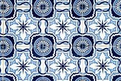 Blaue und weiße portugiesische Fliesen Lizenzfreies Stockbild