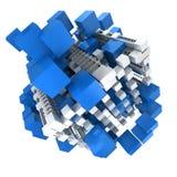 Blaue und weiße Struktur Stockbilder