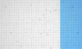 Blaue und weiße Wand Lizenzfreie Stockfotos