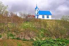 Blaue und weiße Kirche Lizenzfreie Stockfotos