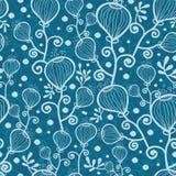 Blaue Unterwasserzusammenfassung pflanzt nahtloses Muster stock abbildung