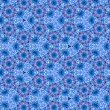 Blaue ununterbrochene mit Blumenverzierung mit Effekt 3d vektor abbildung