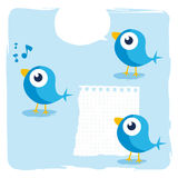 Blaue Vögel Lizenzfreie Stockfotos