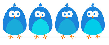 Blaue Vögel stock abbildung