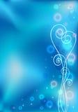 Blaue Valentinsgrußgitterkarte Lizenzfreie Abbildung
