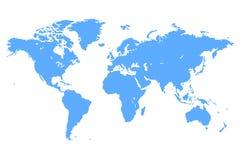 Blaue Vektor-Weltkarte Lizenzfreies Stockbild