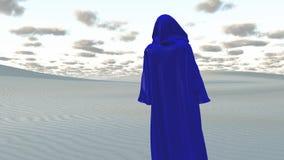 Blaue verborgene Zahl in der Wüste vektor abbildung