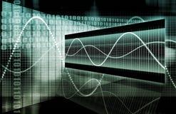 Blaue Verkaufs-Börseen-Analyse Stockfoto
