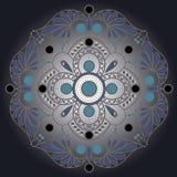 Blaue Verzierung Stockbild