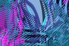 Blaue Vierecke 2 Kreative bunte Formen und Formen Geometrisches Muster Grüne, blaue und purpurrote helle grafische Beschaffenheit lizenzfreie stockfotos