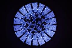 Blaue Violet Luxury Crystal Lamp Stockfoto