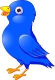 Blaue Vogelkarikatur Lizenzfreies Stockfoto