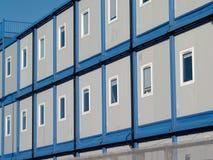 Blaue vorübergehende Büros stockbild