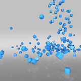 Blaue Würfel Stockfoto
