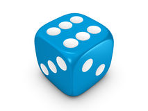 Blaue Würfel auf weißem Hintergrund Stockfotografie