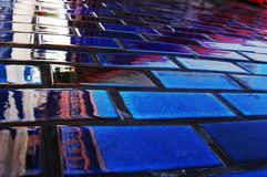 Blaue Wand Lizenzfreie Stockfotografie