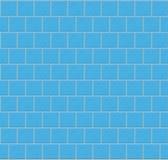 Blaue Wand-Fliesen als nahtloses Muster Lizenzfreies Stockfoto