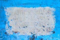 Blaue Wand mit Formhintergrund Stockfotos
