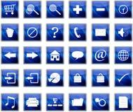 Blaue Web-Navigationsikonen Lizenzfreie Stockfotografie