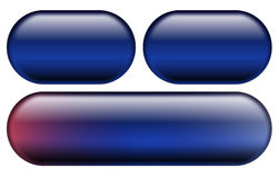 Blaue Web-Tasten Stockfotografie