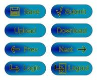 Blaue Web-Tasten Lizenzfreies Stockbild