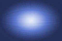 Blaue weiße Computergrafik eines abstrakten Auges Stockfoto