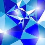 Blaue weiße Rechteckmuster-Hintergrundillustration Lizenzfreies Stockbild