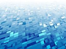 Blaue weiße Zusammenfassung quadriert Hintergrund-Illustration Lizenzfreie Stockbilder